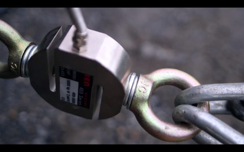 Sử dụng loadcell để đo lực kéo của xe Ford Ranger
